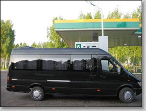 транспортное обслуживание похорон, микроавтобус Mercedes Sprinter на похоронах