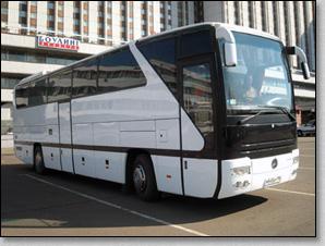 транспортное обслуживание похорон, автобус Mercedes 0403 на похоронах