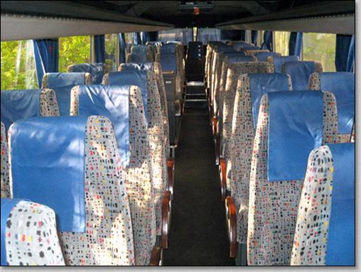 транспортное обслуживание похорон, автобус Scania 52911 на похоронах